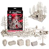 Monster Adventure Terrain- 50pc Unpainted Specialty Accessories Expansion Set- Fully Modular and Stackable 3-D Tabletop World Builder Compatible with DND Dungeons Dragons, Pathfinder, All RPG Games