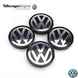 Pièces de rechange Originales Volkswagen VW Cache moyeux de roue (Golf IV, Bora, Polo) - Jeu 4 pieces