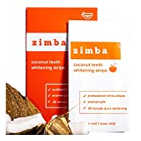 ZIMBA Teeth Whitening Strips - Coconut Essential Oil - Zimba Whitening Strips - White Strips Teeth...