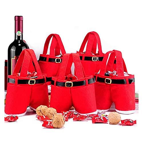 クリスマスの装飾クリスマスの収納袋サンタクロースのズボンはキャンディボックスビールバッグ2パックを感じました