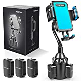 [Upgraded] Car Cup Holder Phone Mount Adjustable Gooseneck Automobile Cup-Holder-Phone-Car-Mount for iPhone 11 Pro/XR/XS Max/X/8/7 Plus/6s/Samsung S10+/Note 9/S8 Plus/S7 Edge(Blue)