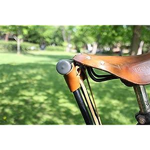 Oopsmark Funda U-Lock para candados de Bicicleta de kryptonita - Cuero marrón Claro