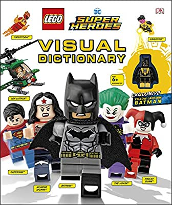 DK LEGO Super Heroes Visual Dictionary with Yellow Lantern Batman Minifig