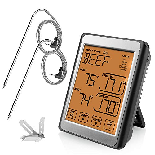 TOPELEK Thermometer Küche Digitales Grill Thermometer Bratenthermometer Fleisch