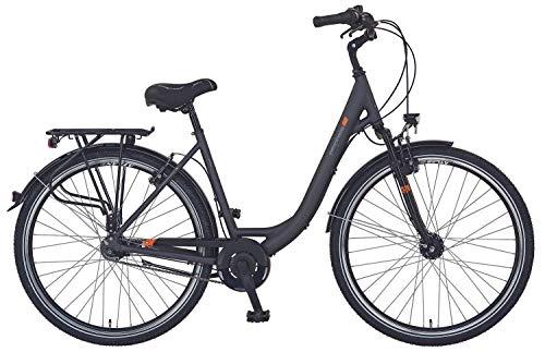 "Prophete Unisex– Erwachsene GENIESSER e9.3 City E-Bike 28\"" Elektrofahrrad, schwarz matt, RH 48 cm"