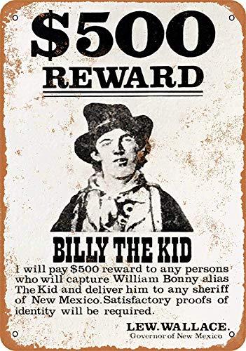 YASMINE HANCOCK 78 Billy The Kid Wanted PosterPlaca de Metal Logotipo de la Lata Poster Arte de la Pared Club Bar decoración del hogar