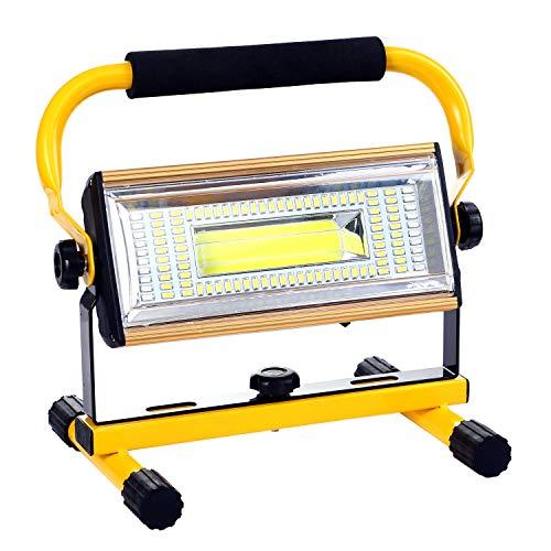 ALFLASH LED Baustrahler Wiederaufladbare Arbeitsleuchte 100W Superhell LED Fluter IP66 wasserdicht Flutlichtstrahler für Outdoor-Notfall Auto Reparatur Baustelle Beleuchtung