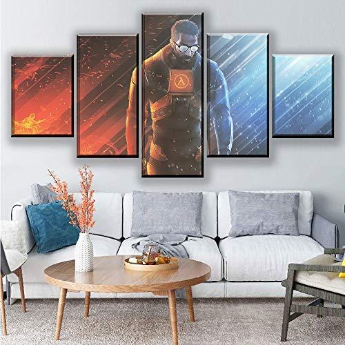 ADGUH 5 Stück Leinwandmalerei Hauptdekoration Wandkunst Set von 5 Stück Spiel Leinwand Poster Kunstdruck Rahmenlos