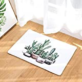 OPLJ Tapis Anti-dérapant de Salle de Bain Impression de Cactus Tapis Anti-dérapant Tapis de Salle de Bain Tapis de Sol de Cuisine Tapis de Toilette décoration de la Maison A20 40x60cm