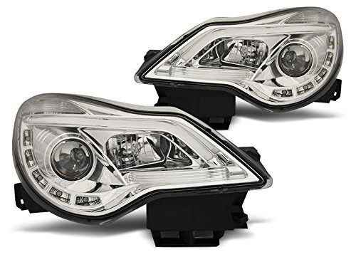 1 paar koplampen Corsa D 11-14 daglicht DRL LED chroom (PA8)