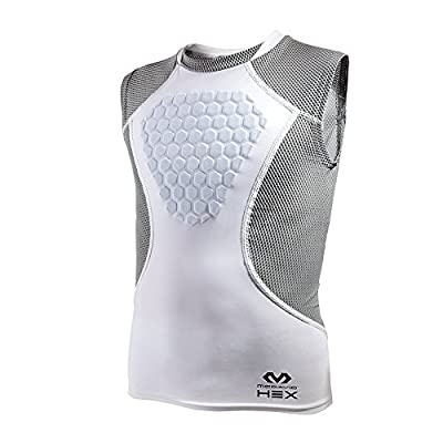 McDavid HEX Chest Protector, Heart Guard Sternum Protection Padded Shirt for Baseball, Football, Lacrosse and Goalies Youth and Adult Sizes