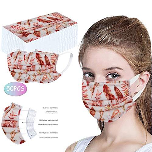 Snakell 10 PCS Mundschutz Waschbar Atmungsaktiver Staub Winddicht Anti Haze Tr/öpfchen Mund und Nasenschutz Elegant Multifunktionstuch Stoffe Face Covering 3D Drucken Staubdichte Bandanas