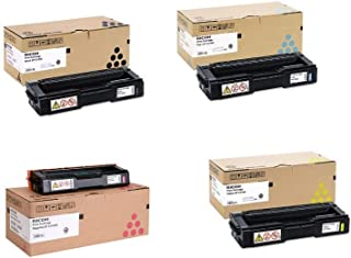 Genuine Ricoh SP C310HA 406475, 406476, 406477, 406478, High Yield Toner Bundle Set SP C311N C312DN SPC312DN BCYM Sealed in Retail Packaging