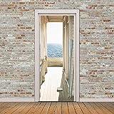 lesgos Türtapete selbstklebend TürPoster, Selbstklebende 3D Tür-Fenster-Tapeten-Abziehbilder, entfernbare Tür-Dekor-Plakat-Wandaufkleber für DIY-Inneneinrichtung
