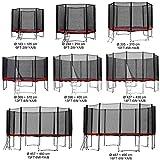 Gartentrampolin Kindertrampolin Trampolin 305 bis 310 cm rot komplettes Set mit Sicherheitsnetz und...