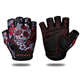 RYMNT Workout Gloves for Women Men, Weight Lifting Fingerless Gloves w/Grip-Lock Palm Padding for...