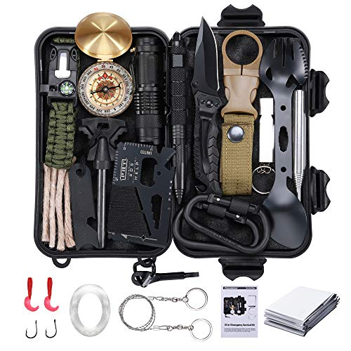 25 in 1 Survival Gear Kit, Famis...