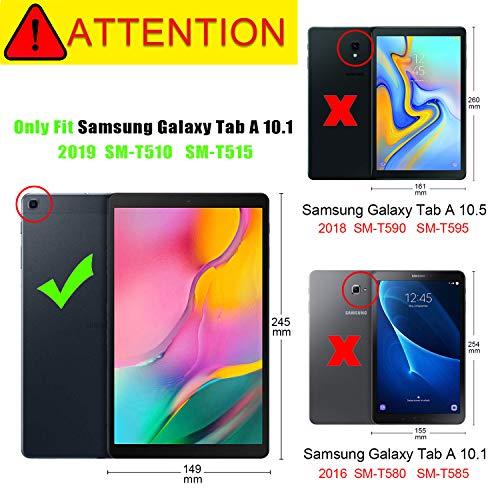 Tmore Schutzhülle für Samsung Galaxy Tab A 10.1 SM-T510 T515 2019, ultradünn, mit Standfunktion, Galaxy