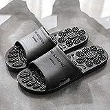 WUHUI Zapatillas de Ducha para Mujeres, Mujer Verano Baño Antideslizante Zapatos, Zapatillas massesivas de Verano, Black_42-43