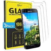 Qhui Panzerglas für Samsung Galaxy S7, [3 Stück] 9H Härte Panzerglasfolie, Anti-Kratzen, Anti-Öl, Anti-Bläschen,Fingerabdrücke 3D Kompatibel, Schutzfolie Displayschutzfolie für Samsung Galaxy S7
