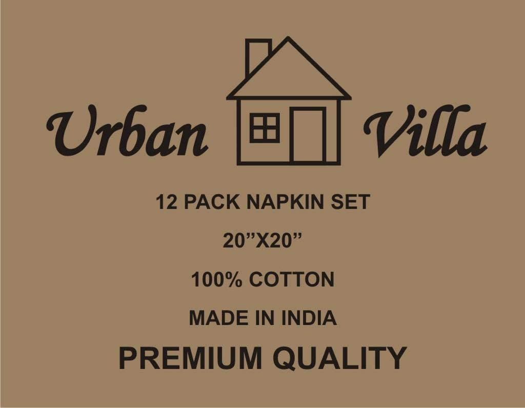 Premium Quality,100/% Red//Blue//White Set of 12 Everyday Use Dinner Napkins