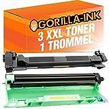 Gorilla de Ink® 3Toner & Drum XXL compatible con Brother DR de 1050TN-1050HL-1112Series MFC-1810mfc-1815MFC MFC-1910W MFC de 1911nw
