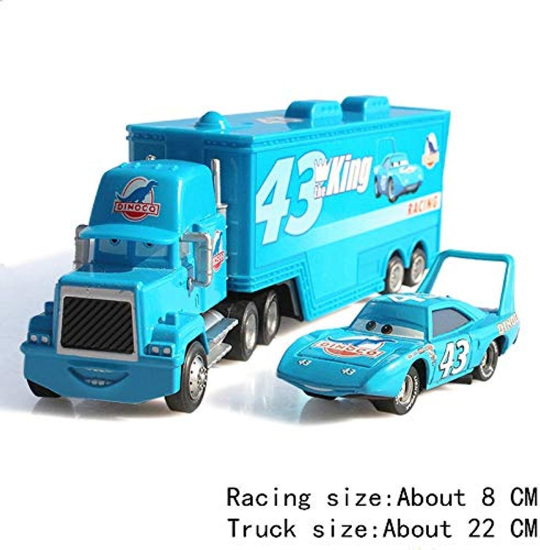 Disney Disney Pixar Cars 2 3 3 3 Toy 2Pcs Lightning McQueen Mack Jackson Storm The King 1 55 Diecast Metal Model Figures Toy Car Kid Gif't The King 58421e