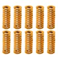 Aitrip 3D Printer Motherboard Accessories 0.31 in OD 0.78 in Length Compression Springs Light Load for Creality CR-10 10S S4 Ender 3 Heatbed Springs Bottom Connect Leveling - 10 Pack (Yellow)