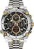 Supershop New Bulova 98B228 Precisionist Chronograph Two Tone Stainless 300M Men's Watch