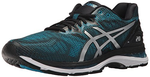 ASICS Men's Gel-Nimbus 20 Running Shoe, Island Blue/White/Black, 6 Medium US