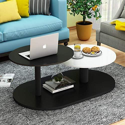 Living Equipment Mesas auxiliares Mesa de centro Sala de estar moderna y simple Mini Mesa redonda creativa en blanco y negro Escritorio para computadora portátil Mesa de cena Elegante decoración de