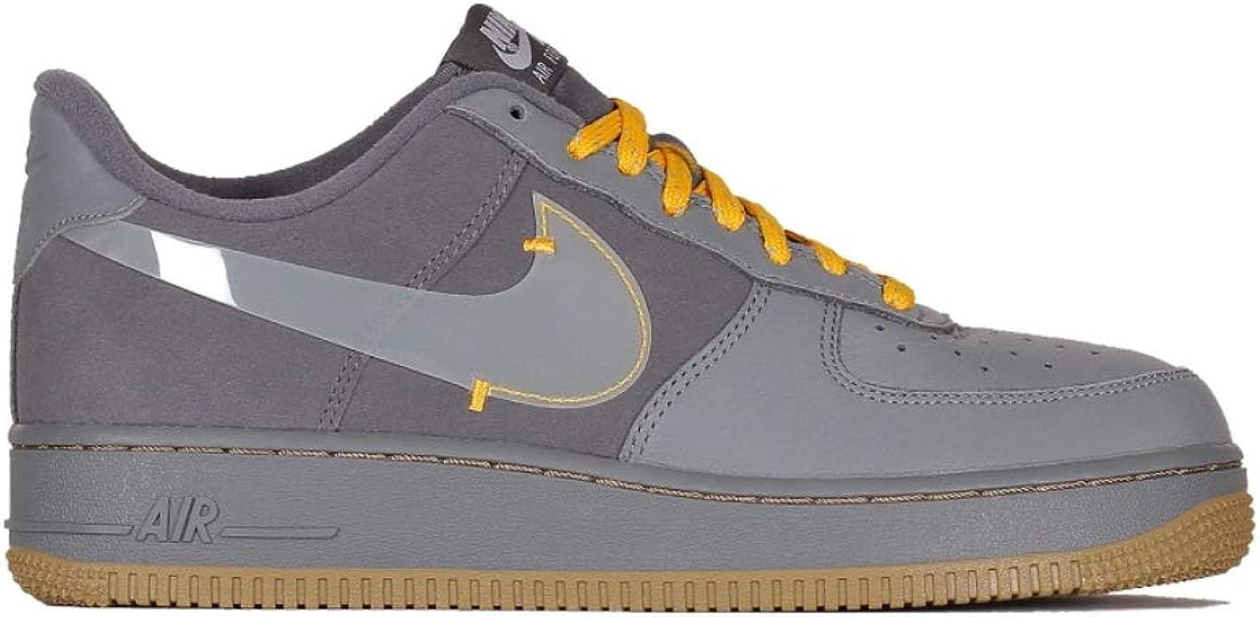 Nike Scarpe da Uomo Sneaker Air Force 1 Prm in camoscio Grigio ...