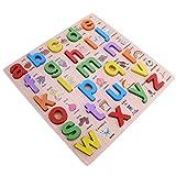 Baoblaze Juguete Educativo de Puzzle 3D de Madera Colorido Herramienta de Enseñanza Preescolar Regalo para Niños Niñas - Letra minúscula
