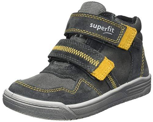 Superfit Jungen EARTH leicht gefütterte Gore-Tex Sneaker, GRAU/GELB 2000