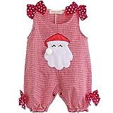 iiniim Pelele de Fiesta de Navidad Disfraces de Navidad Fiesta Papá Noel para Bebé Niño Recién Nacido Unisex Rojo Pajarita 9-12 Meses