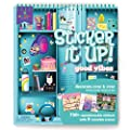 Craft-tastic Sticker It Up! – Reusable Sticker Book for Kids – 750+ Repositionable Stickers Create Designs on 8 Scene Pages for Hours of Mess-Free, Screen-Free Fun – Good Vibes Series
