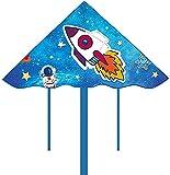 Cometa Para Niños Juegos al Aire Cometa para niños Fácil de volar Cometas de cohete para niños Fácil de volar en la playa, fácil de montar Juegos de juguetes al aire libre - con cuerda de cometa