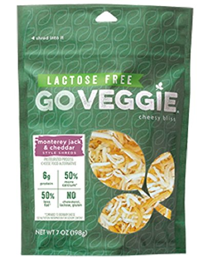 Go Veggie Cheese Shredded Monterey Jack, 7 Ounce (Pack of 12)