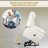HOMCOM Elektrischer Fernsehsessel Aufstehsessel Relaxsessel Sessel mit Aufstehhilfe (creme) - 6