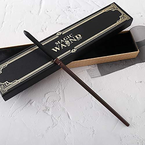"""GXLO Harry Potter Draco Malfoy 14""""Wand, El Mapa del merodeador, con la Caja de la Varita de réplica Ollivanders, Lista de hechizos Halloween y Accesorios de Navidad Buen Regalo,Draco Malfoy"""