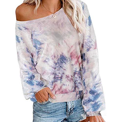 Chemisiers Femmes Shirt Manche Longue Imprimé Floral Roll-Up Haut Décontractée Bouton en Couches Blouse Tunique Tops