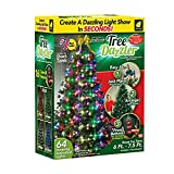 QXue Christmas Indoor Outdoor Tree Lights Waterproof Dimmable Decorative Twinkle Fairy Lights for Christmas Tree, Patio, Party,48lights