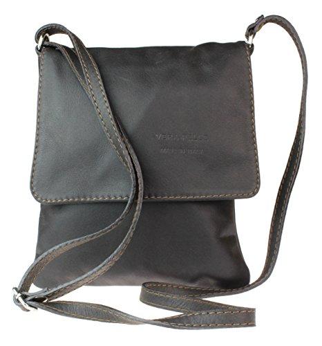 Girly Handbags Neue echte Leder-Umhängetasche Kleine Cross Body Messenger Weiches Leder Mode - Dunkle SchokoladeDunkle Schokolade
