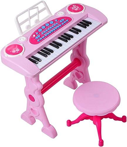 DUWEN Kinder Tastatur Kunststoff Multifunktionsklavier mädchen Spielzeug mit Mikrofon