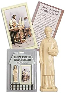 DOZENEGG Saint Joseph Authentic Statue Home Seller Kit with Prayer Card and Instructions