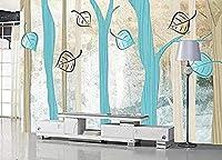 抽象的な手描きの木の葉の壁紙壁の壁紙の装飾3D壁紙ペーストリビングルーム寝室の壁画の壁--150cmx105cm