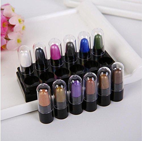 Professional Bunte Makeup Lidschatten Palette 12 Farben,Hochpigmentierte Eyeshadow Schmink Palette Matt und Shimmer,Warme Mutig Und Brillant Lidschattenpalette