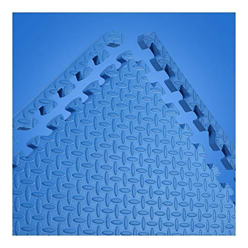 AWSAD Dalles en Mousse avec Bordure Non Toxique Tampon Balcon Le Salon Tapis De Bébé, 10 Couleurs 60x60x2cm (Color : A-Blue, Size : 4-Tiles)