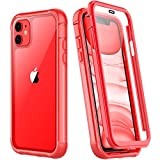 SPIDERCASE Compatible with iPhone 11 Case Red, Built-in