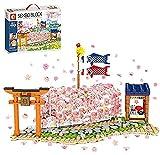 Creator Cherry Temple Pavilion, Sakura Treehouse Set con luz, 1106 + PCS Creator Flowers Tree House, Creator Expert Building Blocks Compatible con Lego